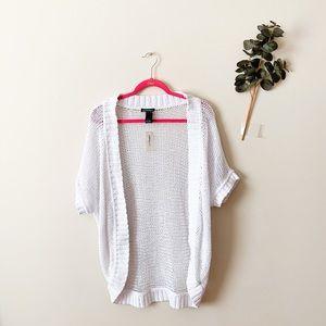 Lane Bryant White Short Sleeve Cardigan Size 14/16